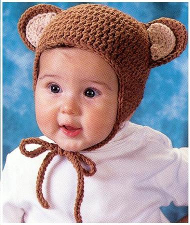 Вязание шапки для маленьких детей