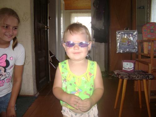 первые солнечные очки.